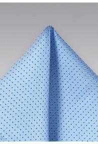 Punkte-Einstecktuch hellblau navy