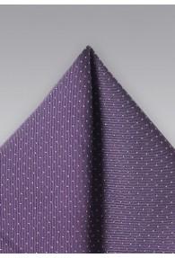 Pünktchen-Einstecktuch violett silber