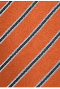 XXL-Businesskrawatte Streifen-Dekor orange schwarz