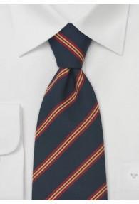 Klassisch britische Krawatte in blau rot und gold
