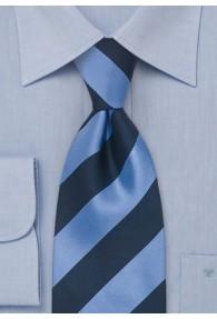 XXL-Krawatte Streifen-Dessin hellblau navy