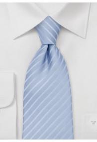 XXL-Krawatte Streifen-Dessin hellblau weiß