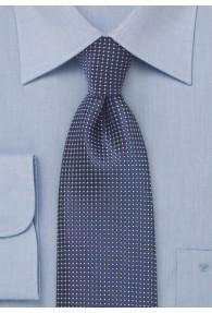 Businesskrawatte Struktur dunkelblau