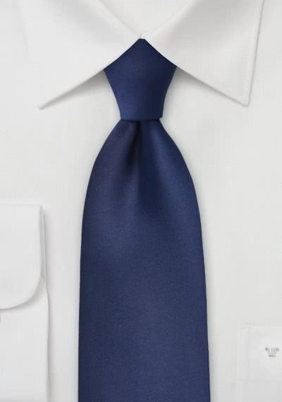 Mikrofaser-Krawatte XXL  monochrom navy