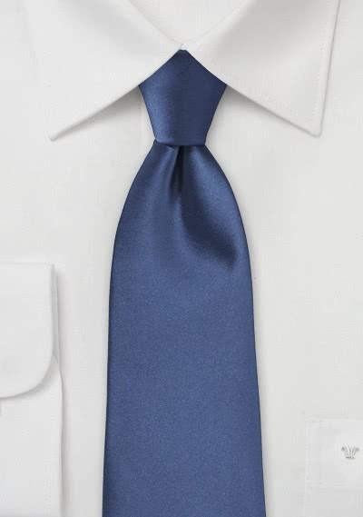 Modische XXL-Krawatte blau Kunstfaser