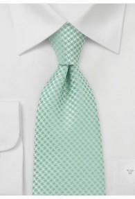 XXL-Krawatte hellgrün Rauten-Dekor