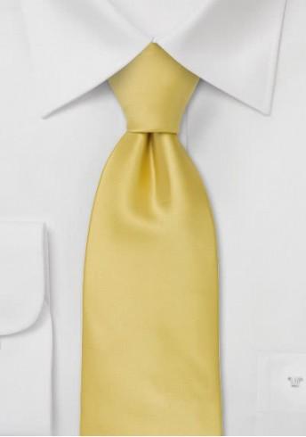 Herrenkrawatte einfarbig blass goldfarben