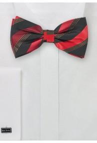 Herrenschleife Streifendessin schwarz rot