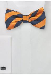 Streifen-Herrenfliege orange navy