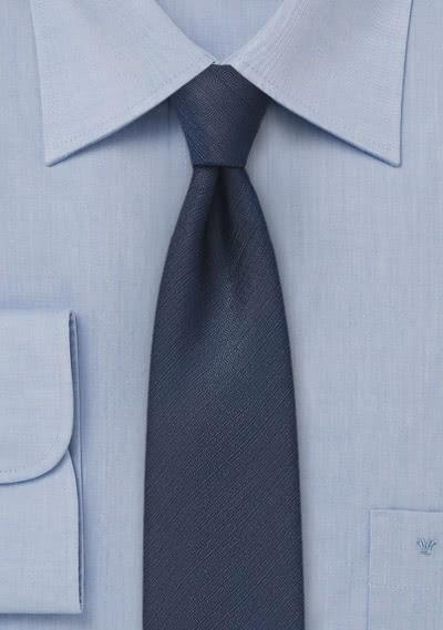 Krawatte unifarben navy schmal
