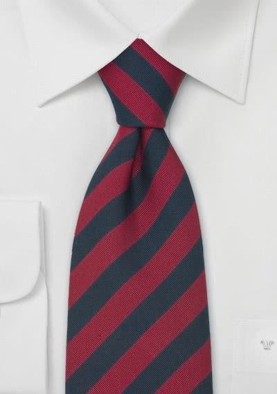 Grenadier Guards Krawatte kaminrot und navyblau