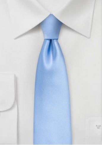Krawatte unifarben hellblau schmal geformt