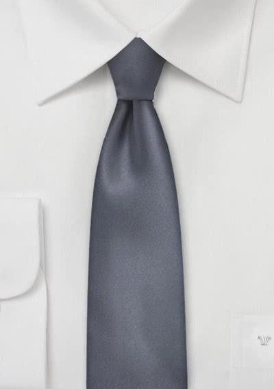 Krawatte unifarben anthrazit schmal