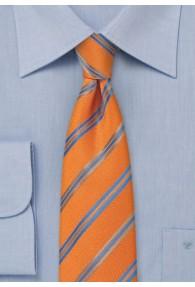 Kravatte schmal geformt  Streifen orange hellblau
