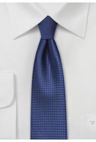 Krawatte schmal strukturiert blau