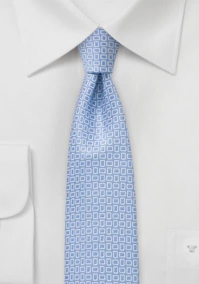 Krawatte schlank Struktur hellblau