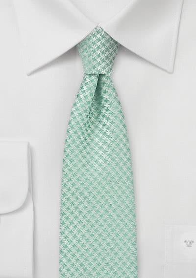 Kravatte schlank Gitter-Oberfläche blassgrün