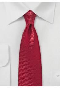 Schmale Krawatte unifarben rot Linien