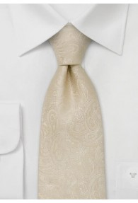 XXL-Hochzeitskrawatte Paisleymuster