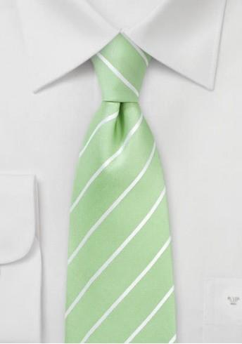Krawatte hellgrün Streifen
