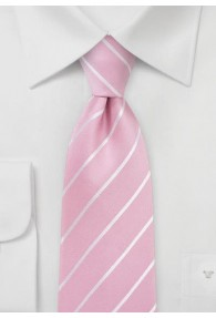 Krawatte blassrosa Streifen