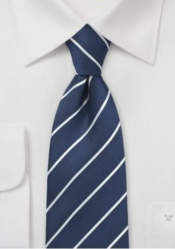 Krawatte navy Streifen