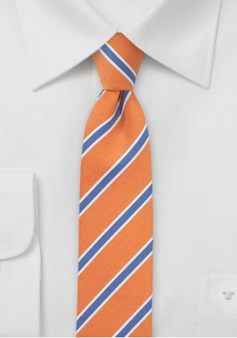 Businesskrawatte schmal geformt orange royal