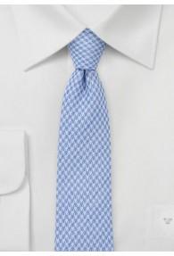 Krawatte strukturiert mit Baumwolle hellblau