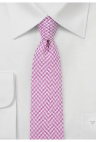 Businesskrawatte strukturiert mit Baumwolle pink