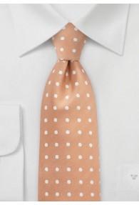 Krawatte Tupfen apricot