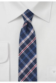 Krawatte navy Karo-Design