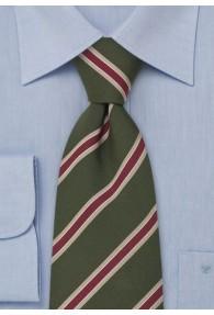 Krawatte moosgrün/gold/rot