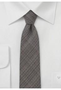 Businesskrawatte schmal geformt mokkafarben mit Wolle
