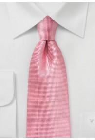 Businesskrawatte Gitter-Struktur rosa