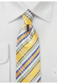 Krawatte topmodisches Schottenkaro gelb