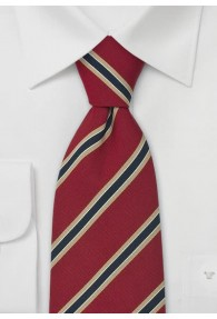 Klassische Krawatte rot/navy