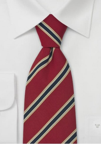 Cambridge XXL-Krawatte rot/navy/beige