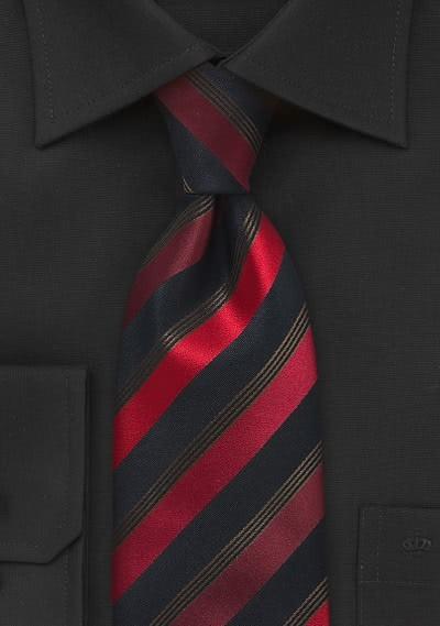 Stylische XXL-Krawatte schwarz rot