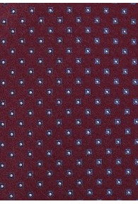 XXL-Krawatte Punkte-Dessin weinrot