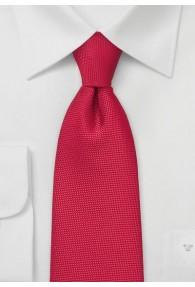 XXL-Krawatte  zierlich texturiert rot
