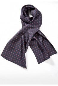 Krawattenschal breit Ornamente marineblau