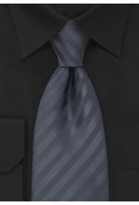 XXL-Krawatte anthrazit strukturiert