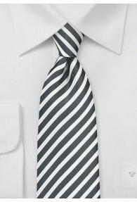 Krawatte Business-Streifen tiefschwarz...