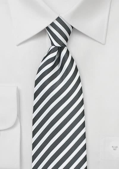 Krawatte Business-Streifen tiefschwarz