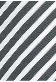 Krawatte Business-Streifen tiefschwarz perlmuttfarben