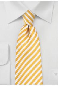 Businesskrawatte Business-Streifen gelb weiß