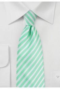 Kravatte Business-Streifen aqua perlweiß