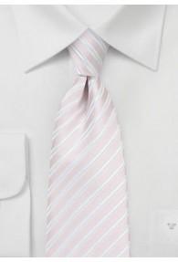 Krawatte Business-Streifen blassrosa weiß