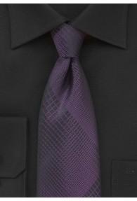 Krawatte lineares Dessin lila