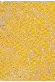 Herrenkrawatte gelb Rankenmuster